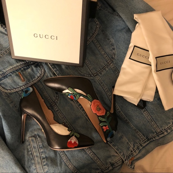 e24af55bde9 Gucci Women s Ophelia Embroidered High-Heel Pumps